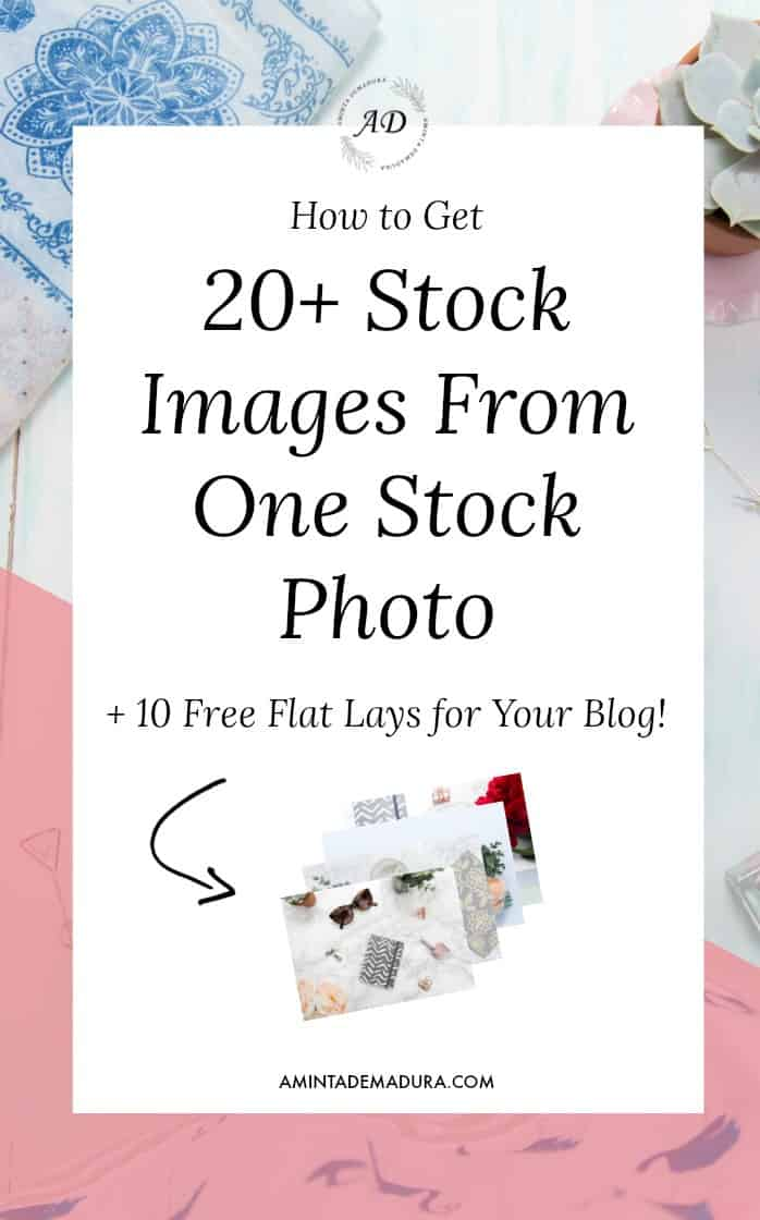 How to Create 20+ Images from one Stock Photo Flat Lay
