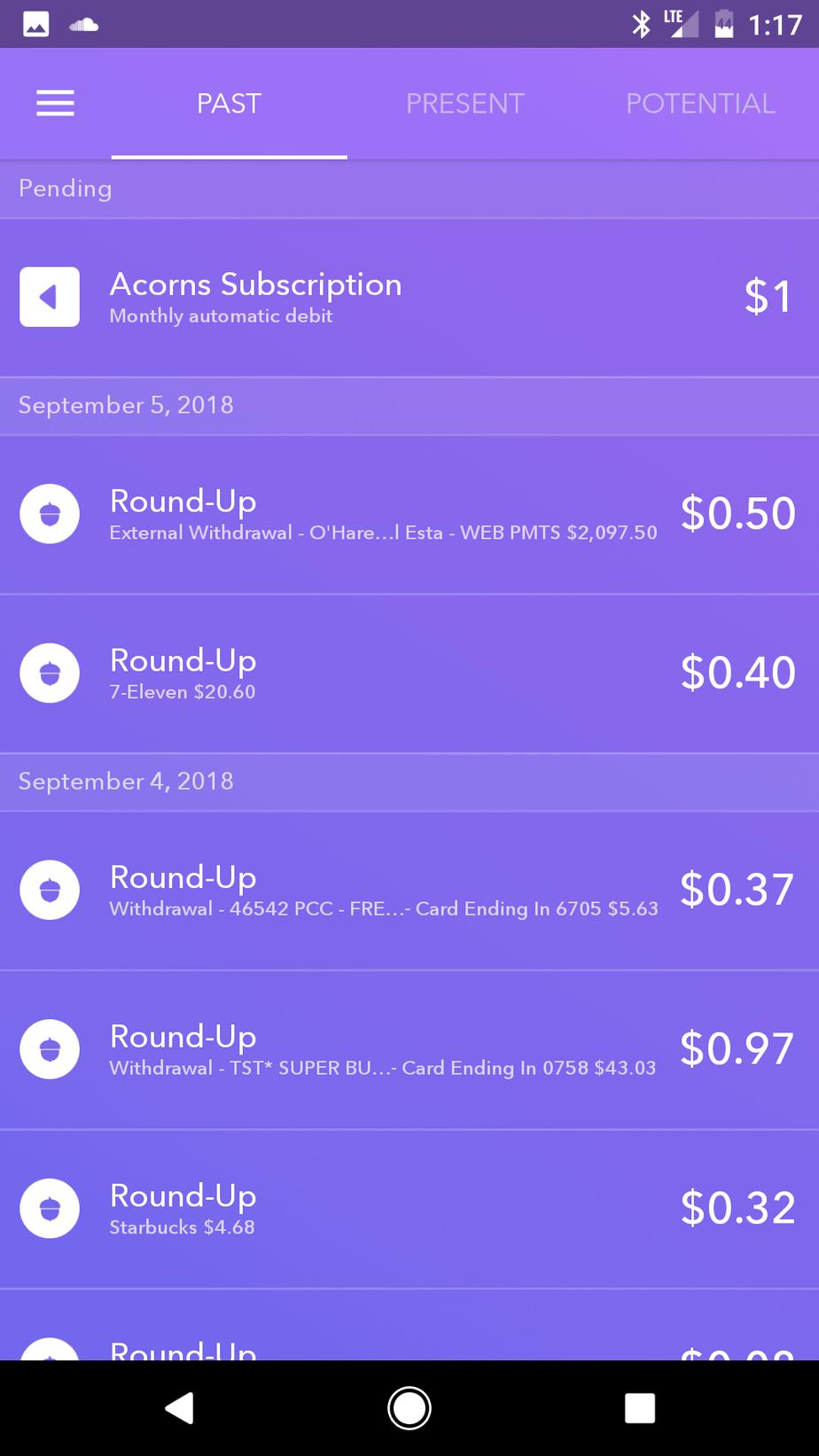 Investing app Acorns