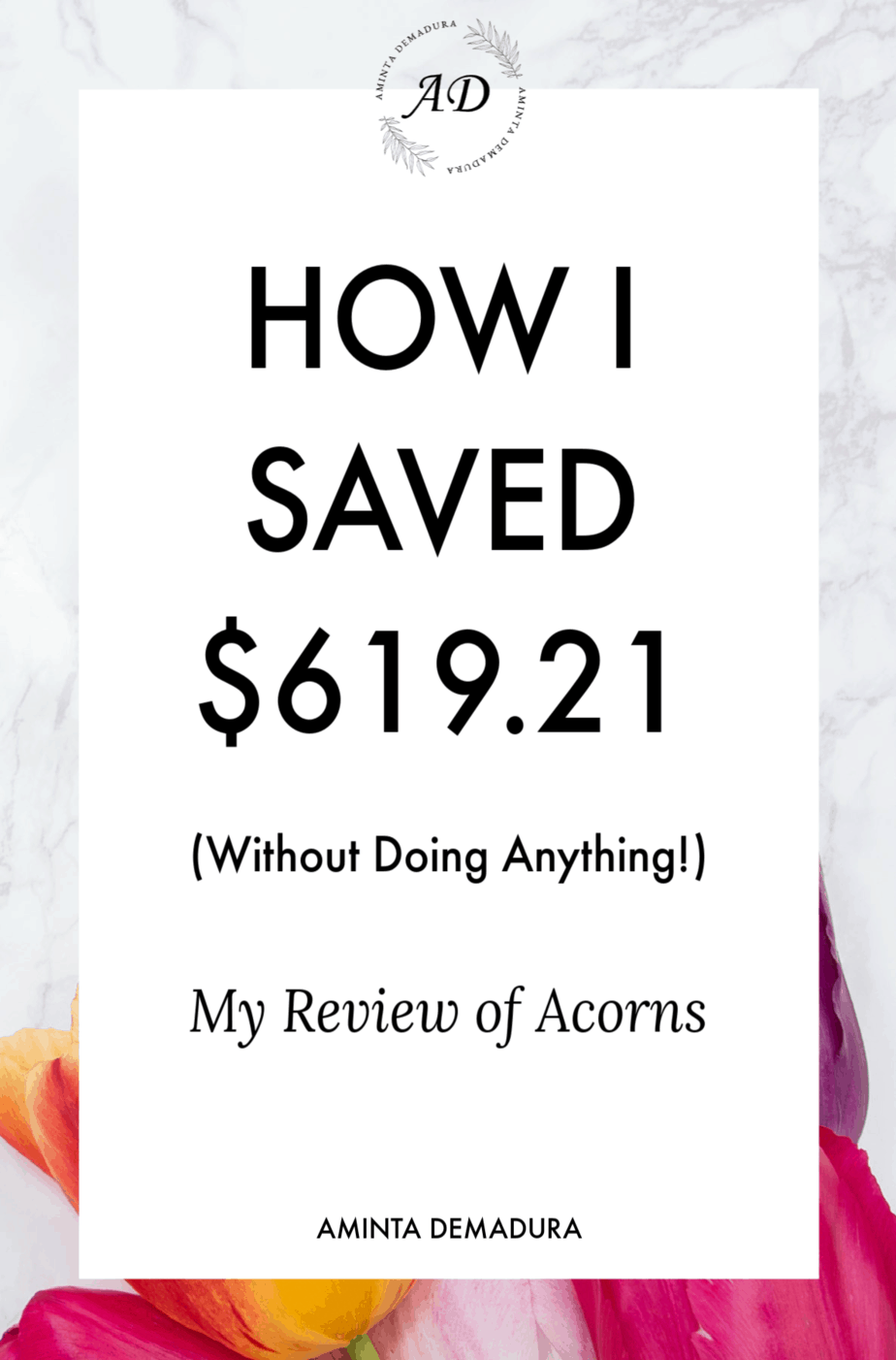 Money saving app acorns