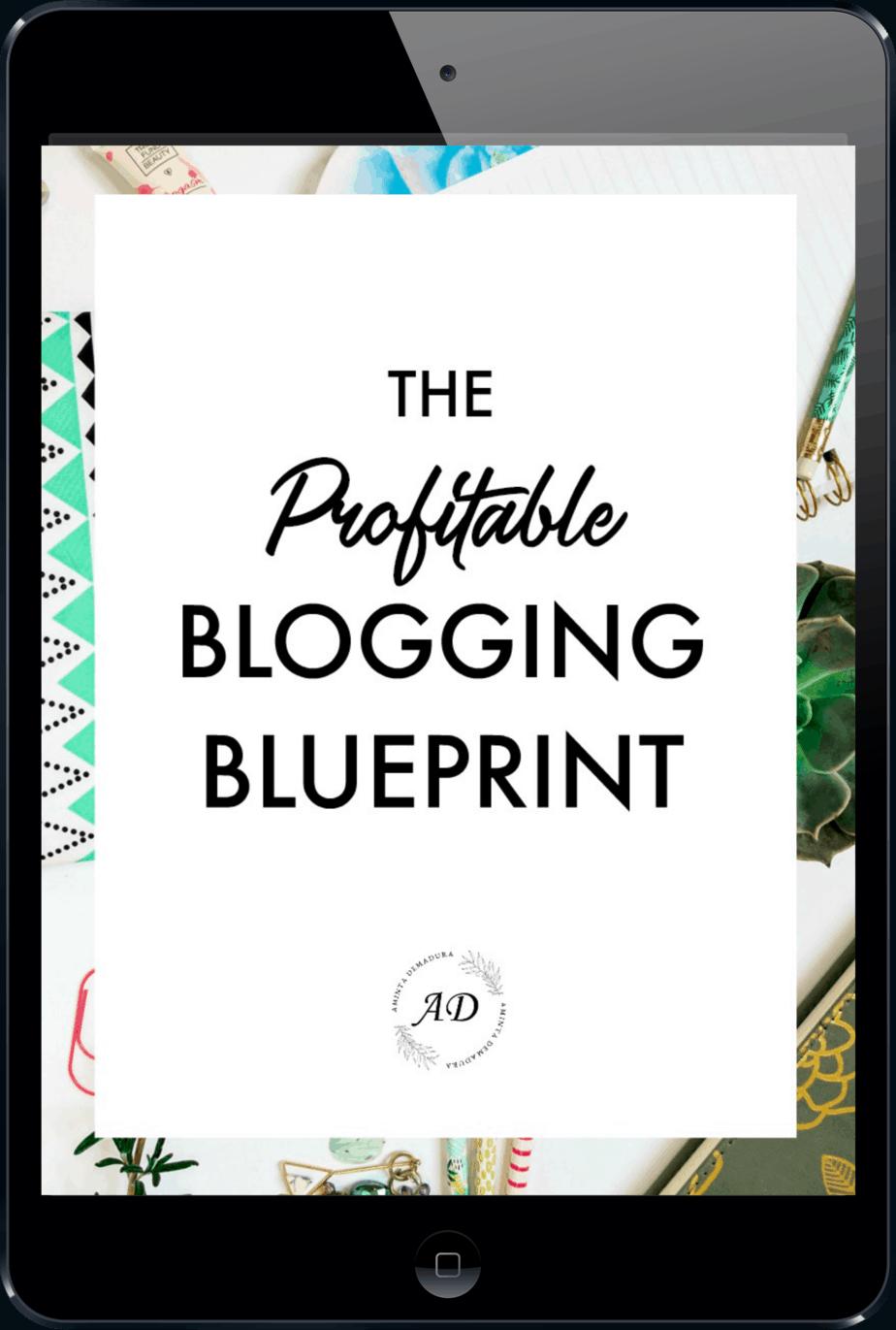New Profitable Blogging Blueprint