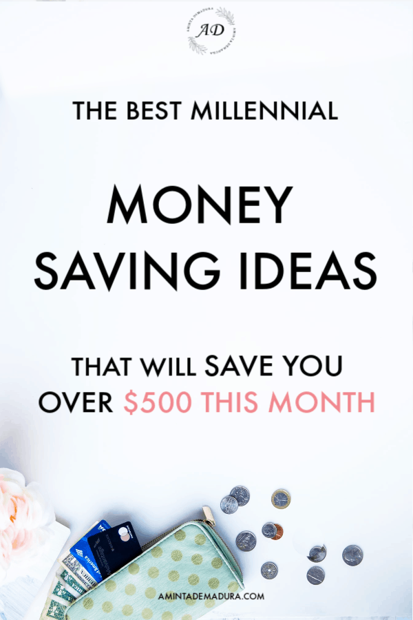 money saving ideas millennials