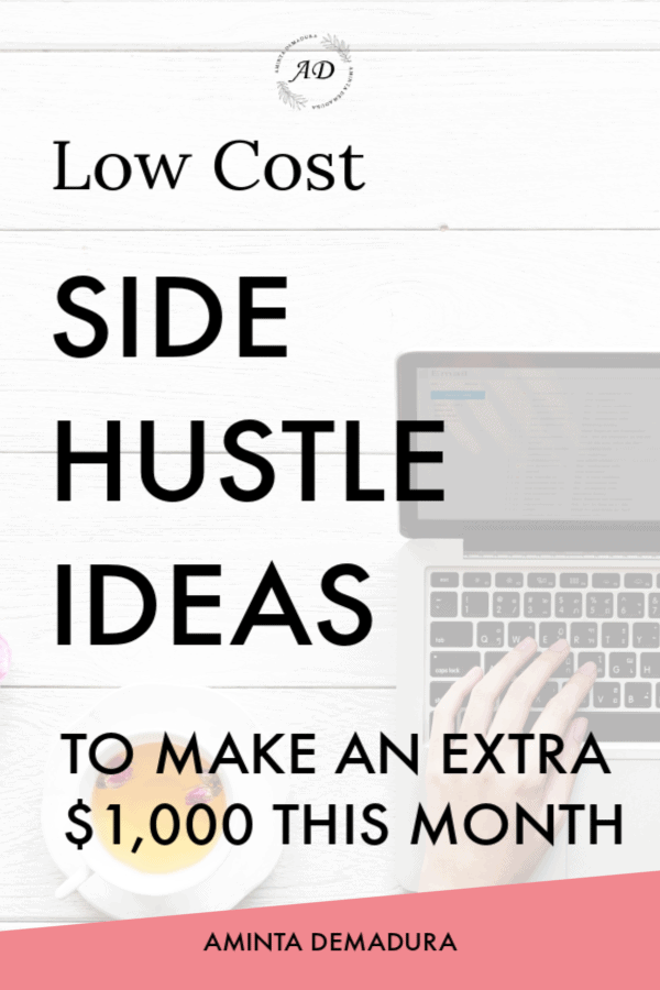 Low cost side hustle ideas to make extra money
