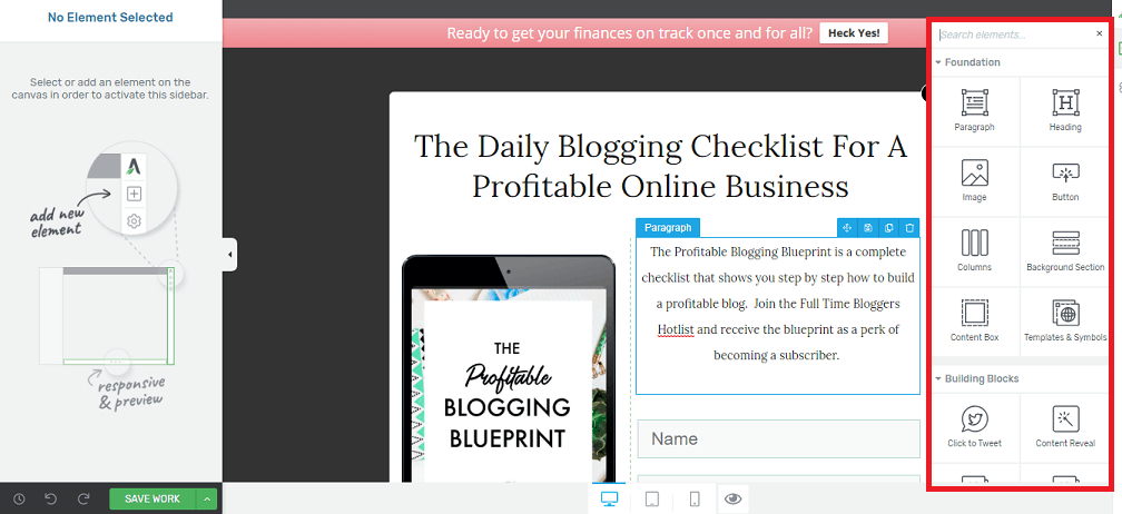 create a profitable blog