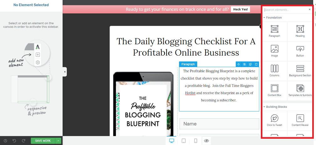 create a profitable blog