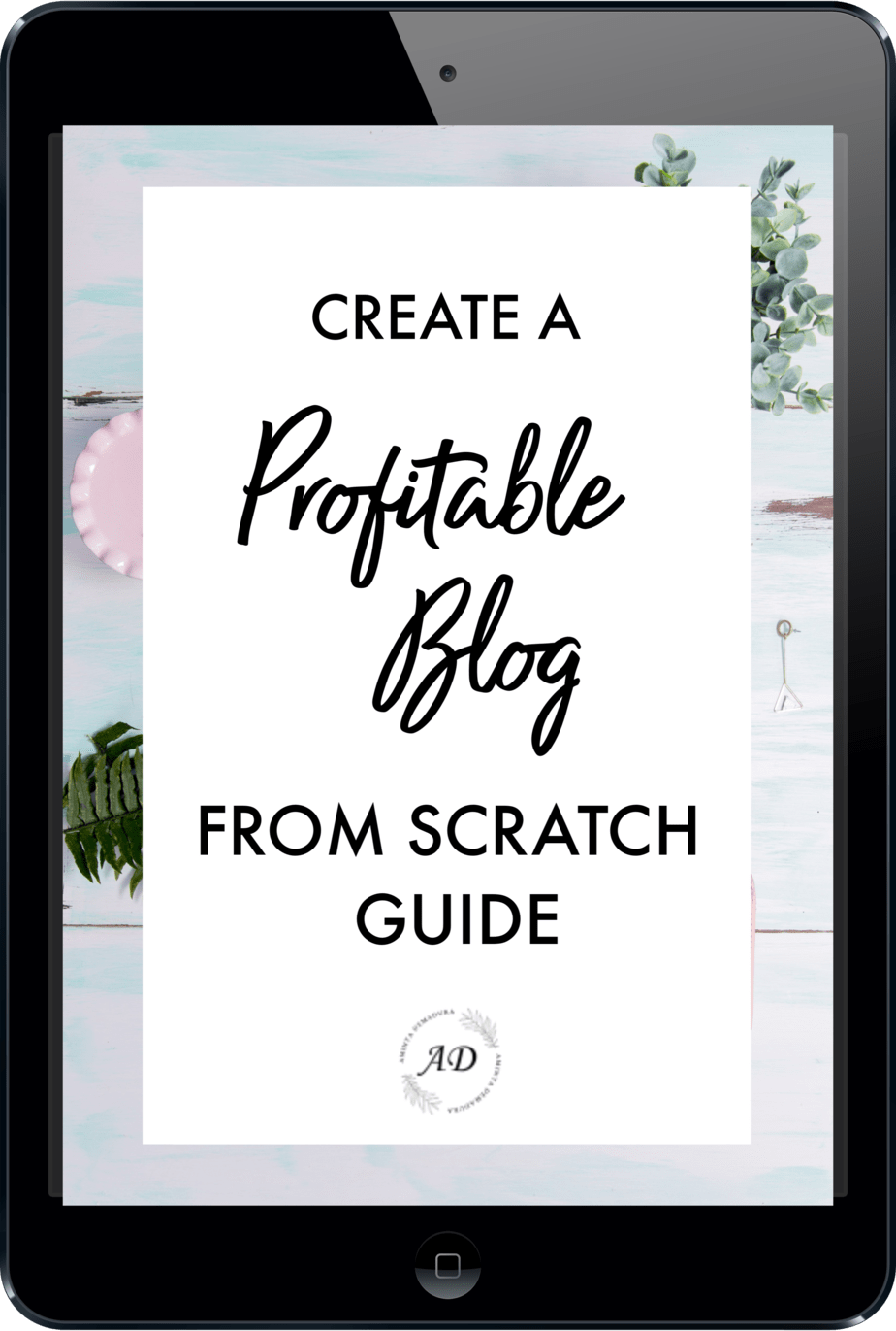CREATE A PROFITABLE BLOG FROM SCRATCH
