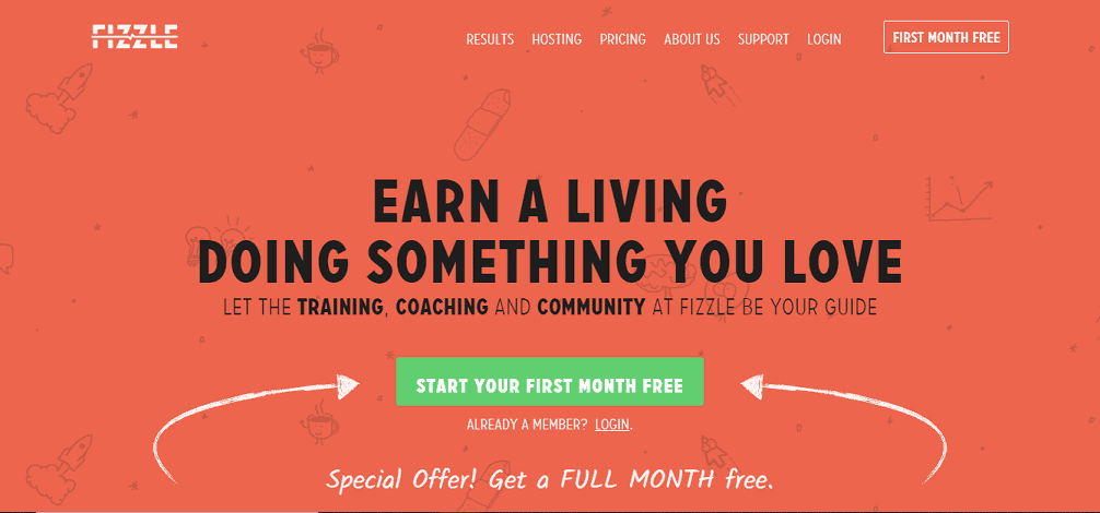Fizzle make money blogging course membership