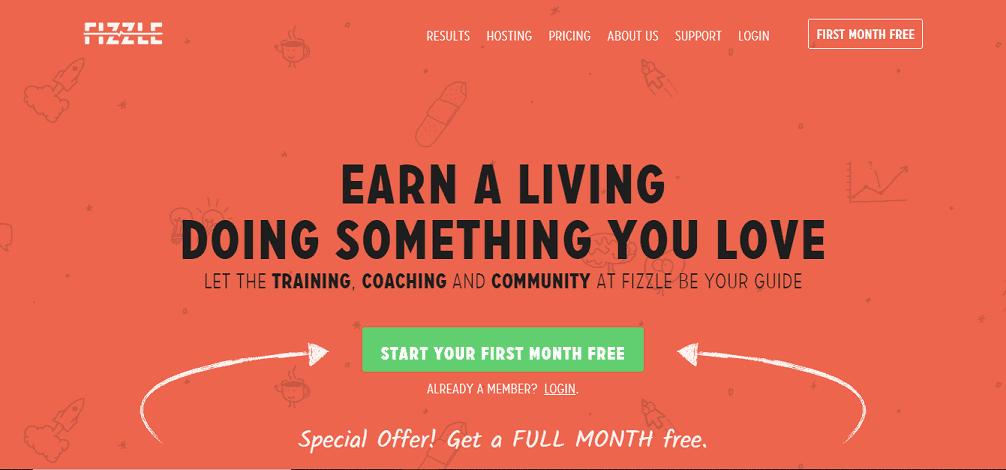 Fizzle make money blogging course membership