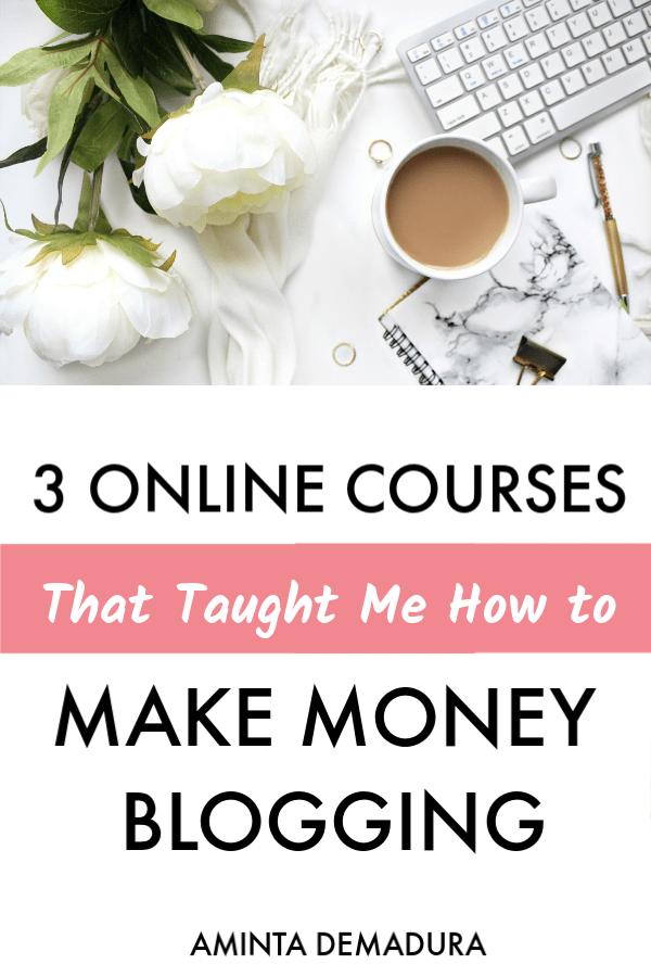 online courses make money blogging