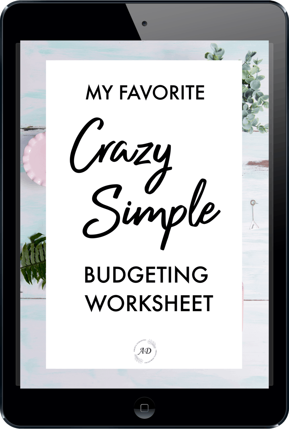 CRAZY simple budgeting worksheet