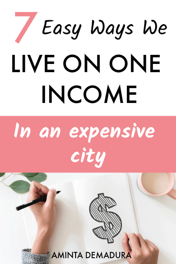 live on one income