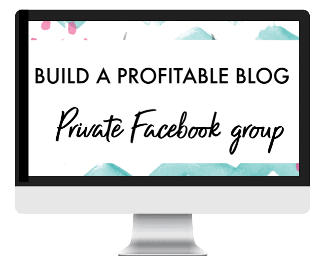 build a profitable blog facebook group