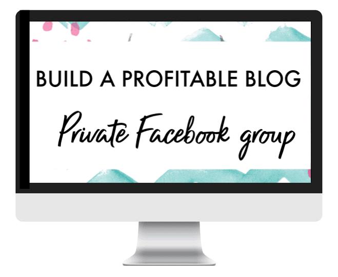 build a profitable blog facebook group