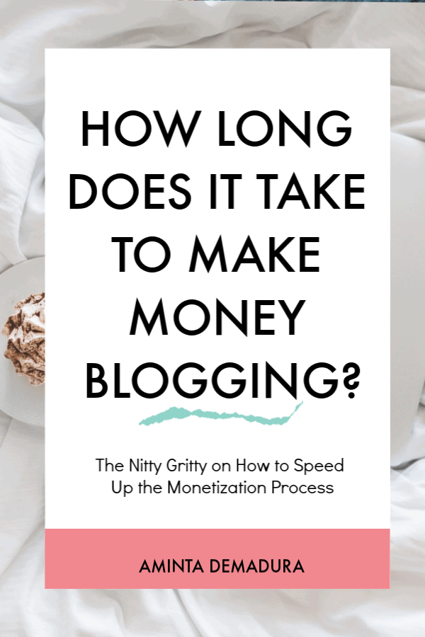 how long make money blogging