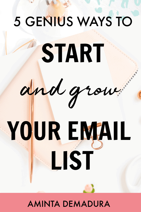 grow email list bloggers