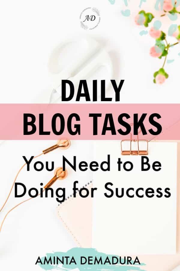 blogging planner daily checklist