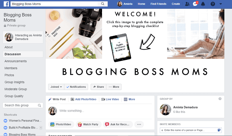 blogging facebook group for bloggers