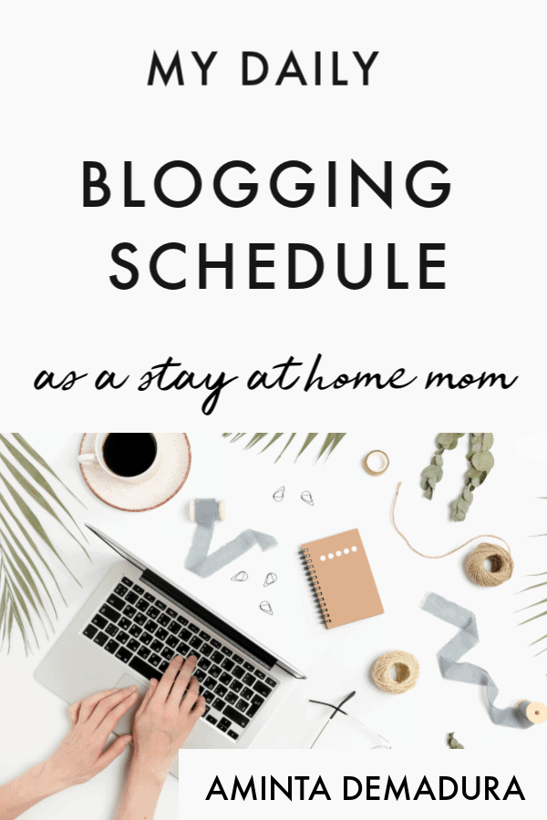 part time blogging schedule
