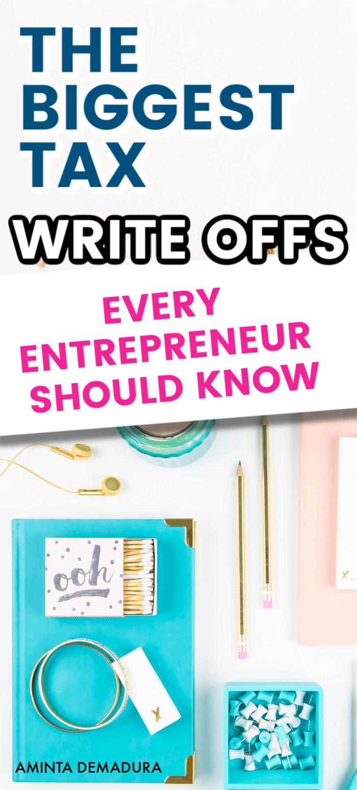 tax write offs blogger entrepreneur