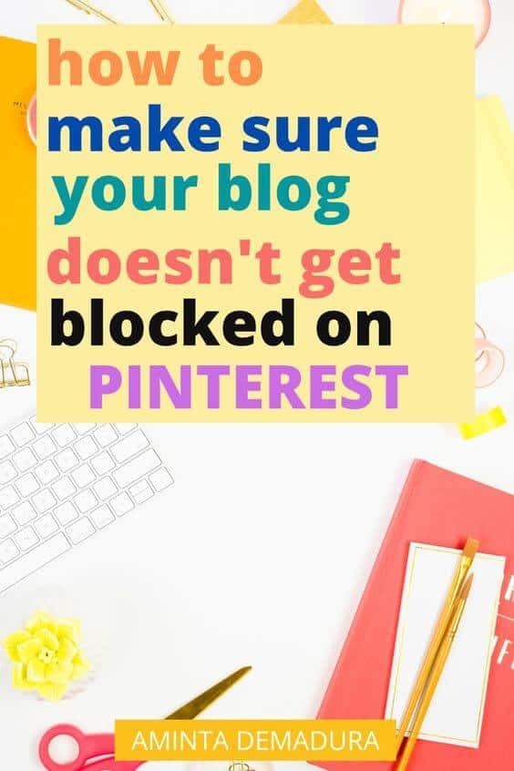 pinterest blocked my website spam
