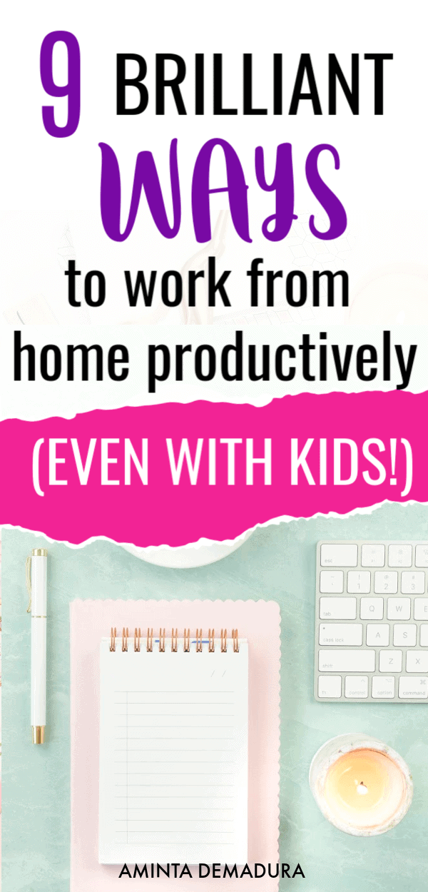 stay productive working from home