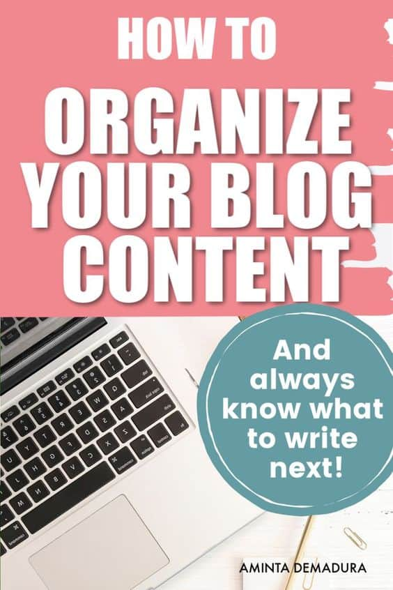 how to organize your blog content