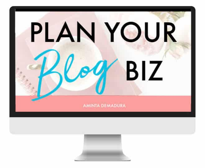 plan your blog biz course
