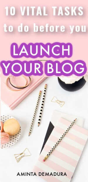 launch your blog checklist